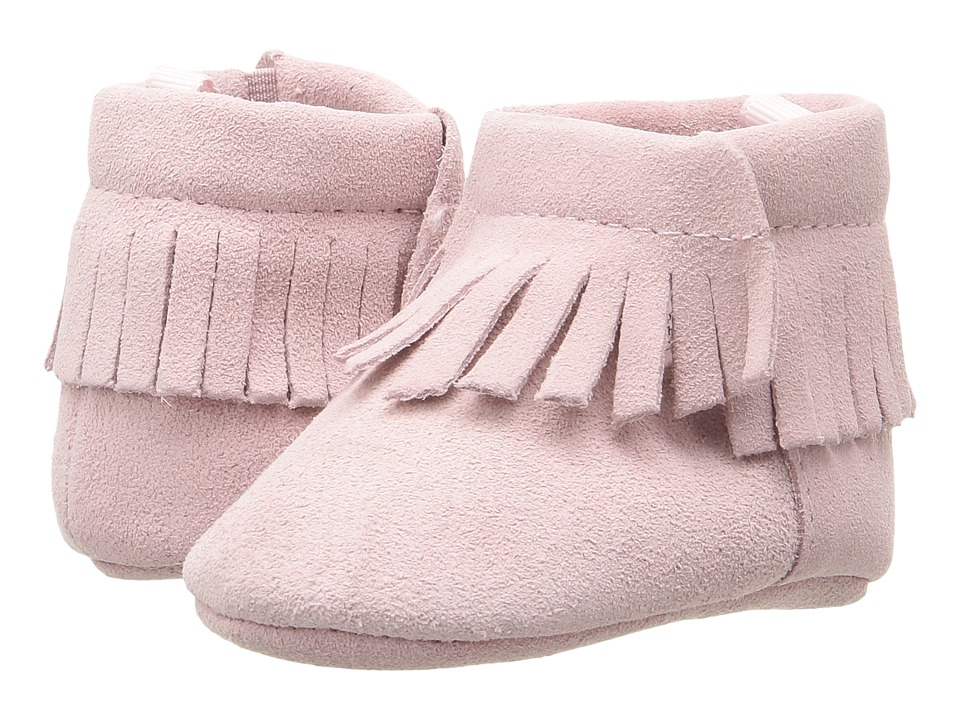 Baby Deer - Suede Moccasin (Infant) (Pink) Girls Shoes