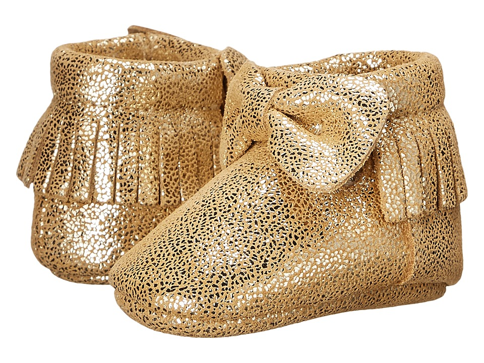 Baby Deer - Metallic Bow Moccasin (Infant) (Gold) Girls Shoes
