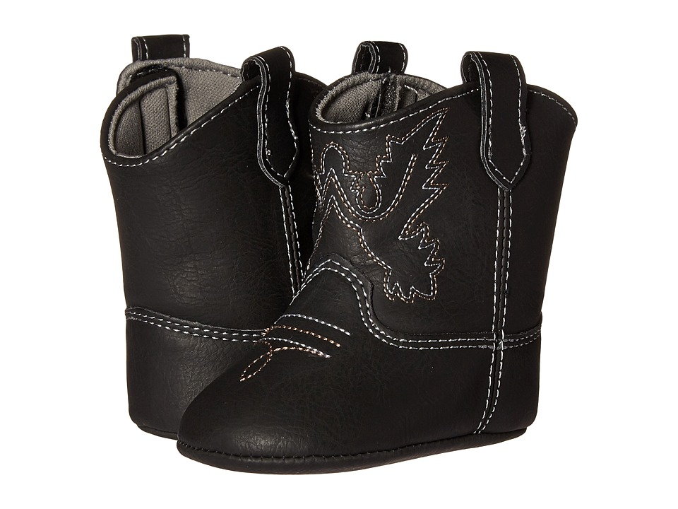 Baby Deer - Western Boot (Infant) (Black) Kids Shoes