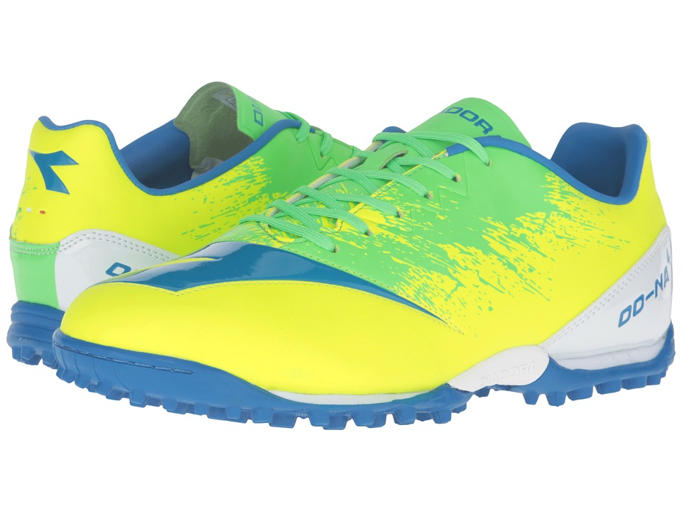 Diadora - DD-NA4 R TF (Yellow Fluo/Green) Men's Soccer Shoes