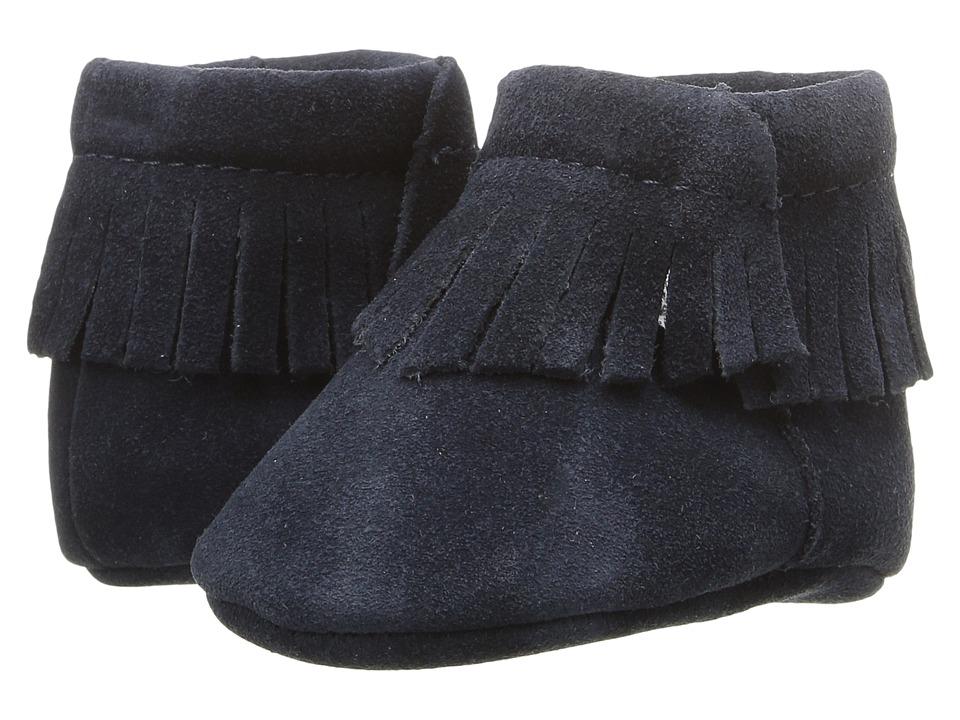 Baby Deer - Suede Moccasin (Infant) (Navy) Kids Shoes