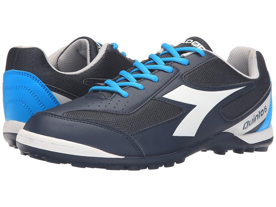 Diadora - Quinto 6 TF (Classic Navy/White) Men's Soccer Shoes