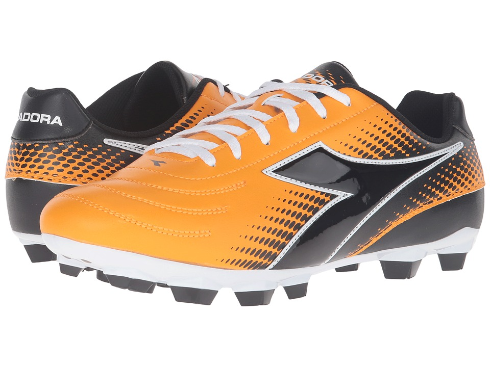 Diadora - Mago R LPU (Orange/Black) Men's Soccer Shoes