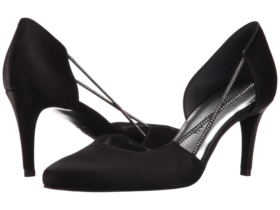 Stuart Weitzman - Stringlights (Black Satin) High Heels