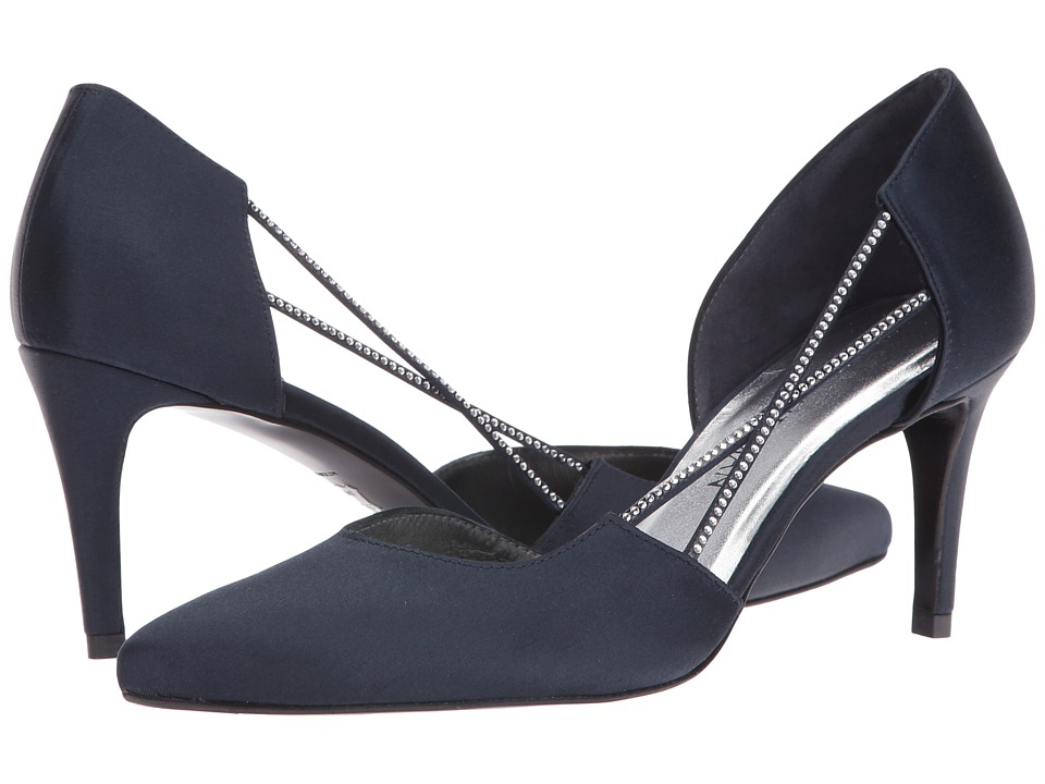 Stuart Weitzman - Stringlights (Navy Satin) High Heels