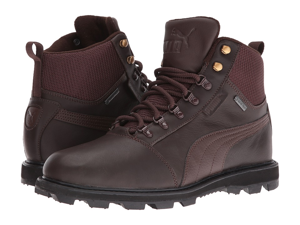 PUMA - Tatau Fur Boot GTX (Chocolate Brown/Chocolate Brown) Men's Boots