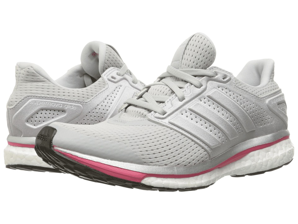 adidas Running - Supernova Glide 8 W (Solid Grey/Silver/Pink) Women's Running Shoes