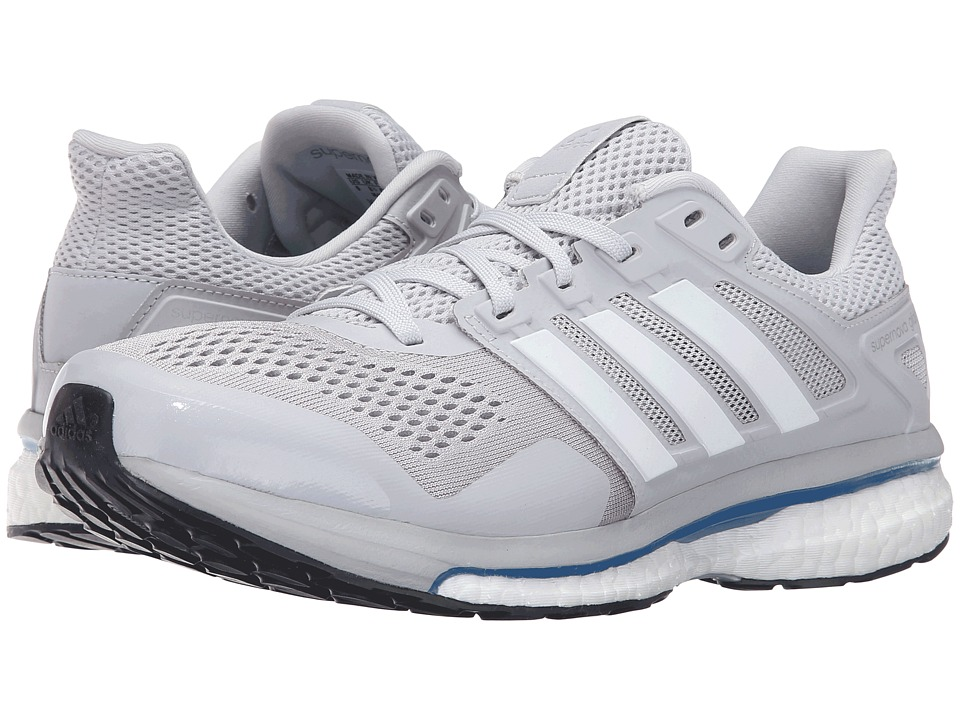 adidas Running - Supernova Glide 8 (Soft Grey/White/Blue) Men's Running Shoes