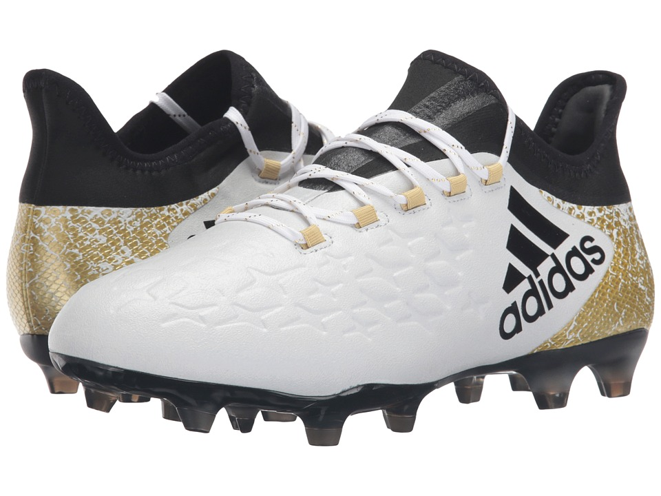 adidas - X 16.2 FG (White/Black/Gold Metallic) Men's Cleated Shoes