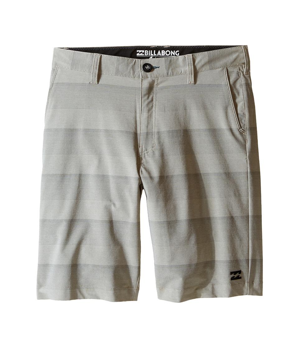 Billabong Kids - Crossfire X Stripe Walkshorts (Big Kids) (Khaki) Boy's Shorts