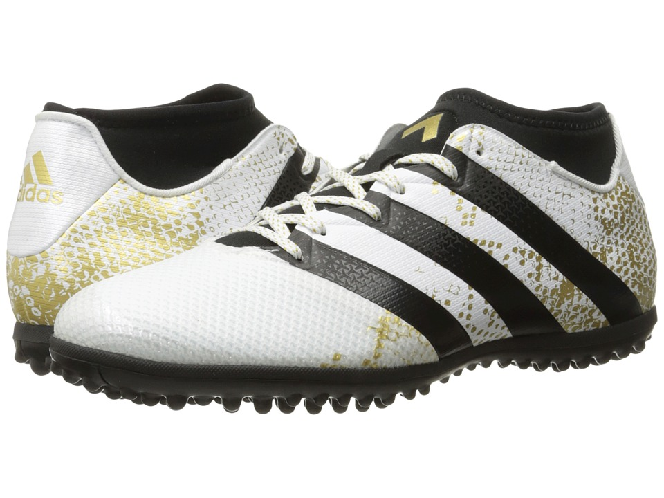 adidas - Ace 16.3 Primemesh TF (White/Gold Metallic/Black) Men's Soccer Shoes