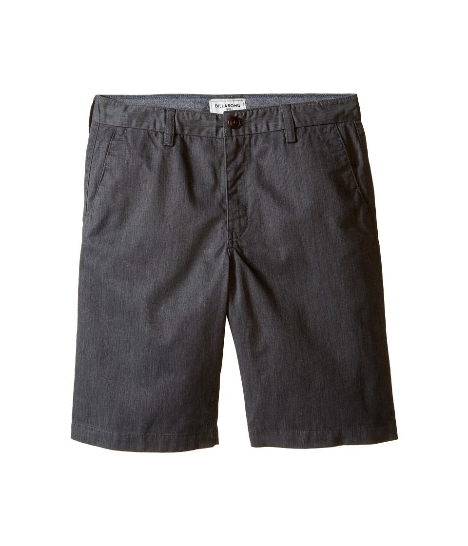 Billabong Kids - Carter Walkshorts (Big Kids) (Charcoal Heather) Boy's Shorts
