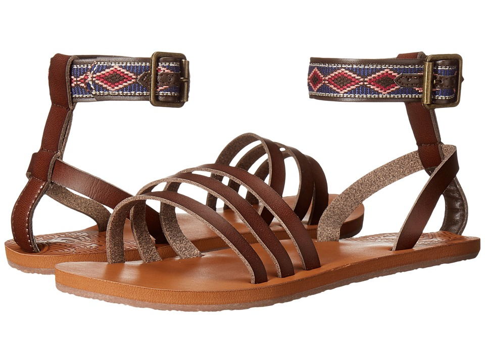 Roxy - Lunas (Chocolate) Women's Sandals