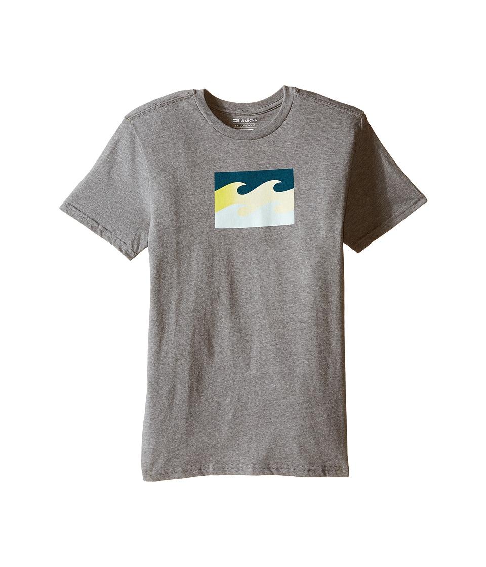 Billabong Kids - Tribong T-Shirt (Big Kids) (Dark Heather Grey) Boy's T Shirt