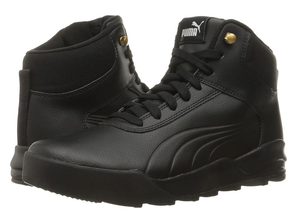 PUMA - Desierto Sneaker L (Puma Black/Puma Black) Men's Shoes