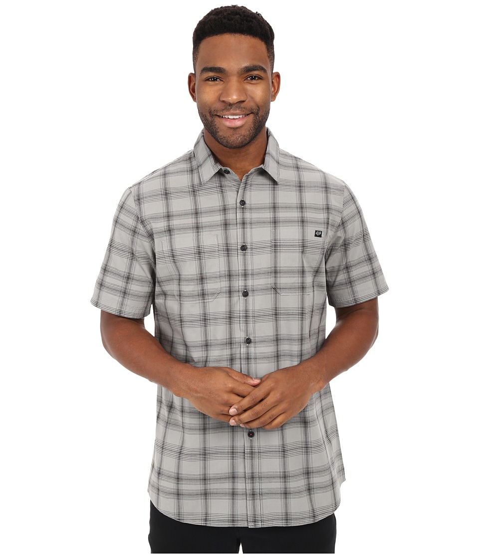 Fox - Rando Short Sleeve Woven (Grey) Men's Clothing