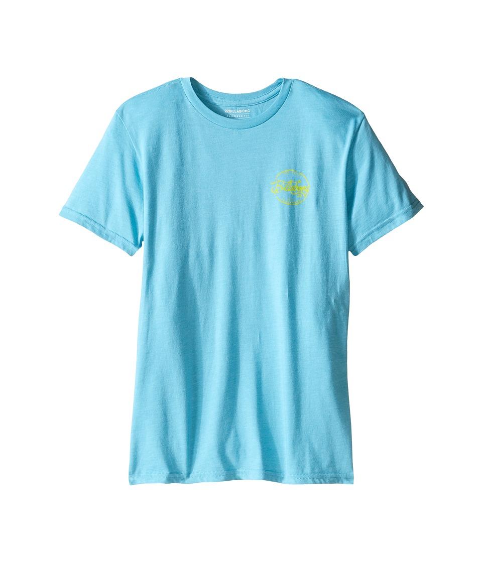 Billabong Kids Sloop T-Shirt (Big Kids) (Aqua Heather) Boy