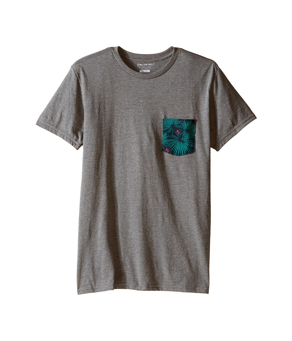 Billabong Kids - Pocket Vibes T-Shirt (Big Kids) (Dark Grey Heather) Boy's T Shirt