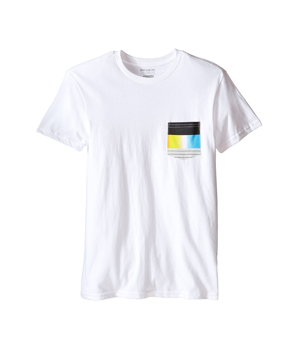 Billabong Kids - Pocket Vibes T-Shirt (Big Kids) (White) Boy's T Shirt