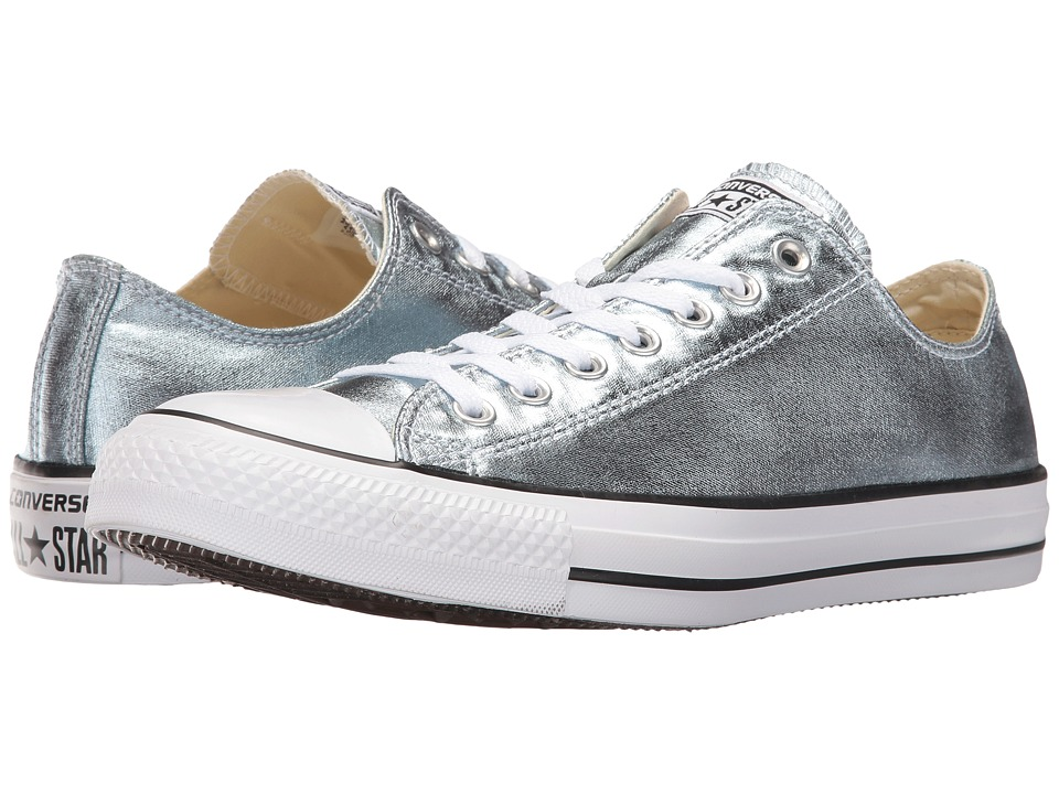 Converse Chuck Taylor All Star Metallic Canvas Ox (Metallic Glacier/White/Black) Athletic Shoes