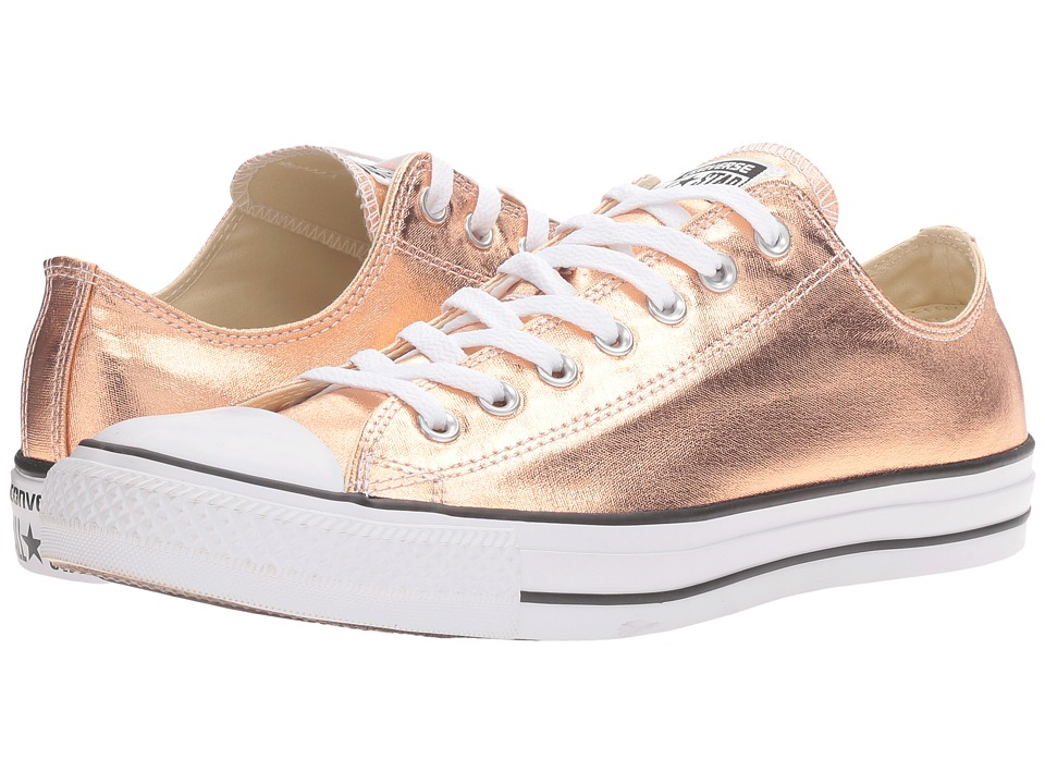 Converse Chuck Taylor(r) All Star(r) Metallic Canvas Ox (Metallic Sunset Glow/White/Black) Athletic Shoes