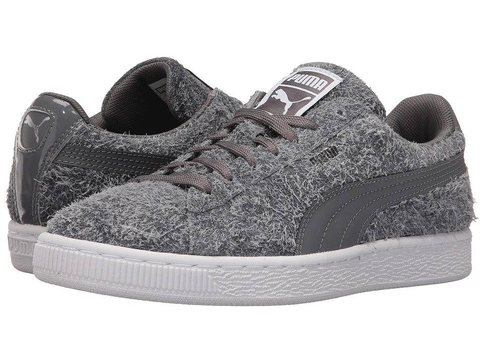 PUMA - Suede Elemental (Steel Gray/Puma White) Women's Shoes