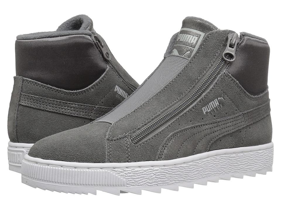 PUMA - Suede Mid WTR Element (Steel Gray/Steel Gray) Women's Shoes