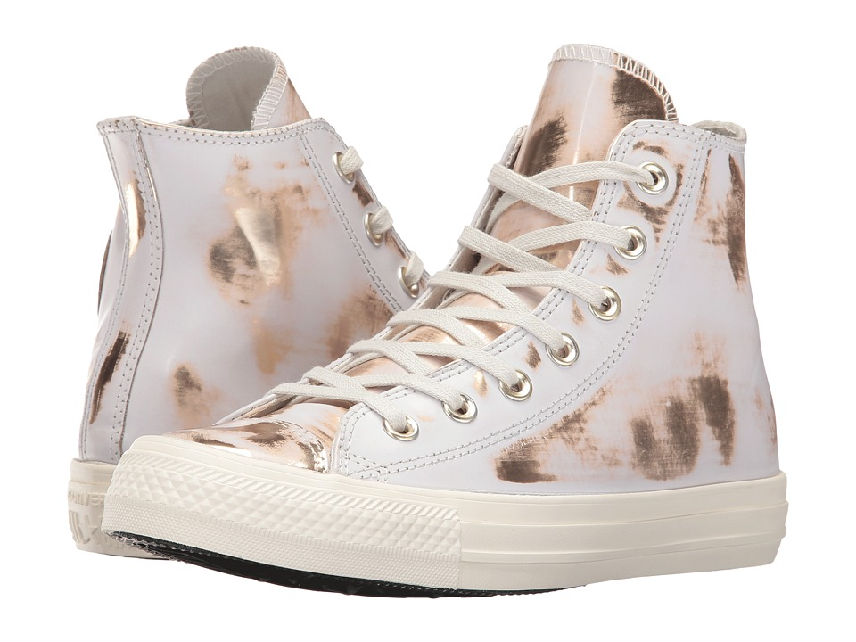 Converse Chuck Taylor(r) All Star(r) Brush-Off Leather Hi (Buff/Light Gold/Buff) Women