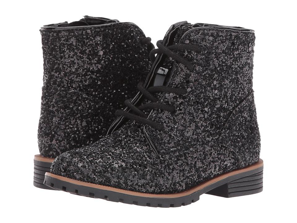 Nina Kids - Carleigh (Toddler/Little Kid/Big Kid) (Black Glitter) Girls Shoes