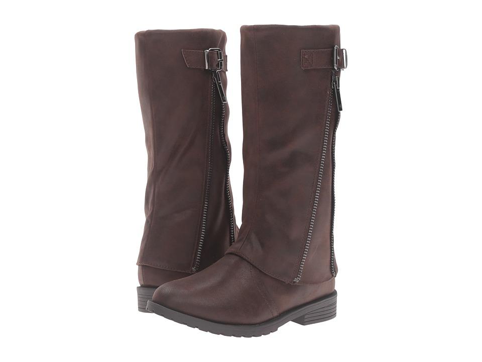 Nina Kids - Elouise (Toddler/Little Kid/Big Kid) (Brown Smooth) Girls Shoes