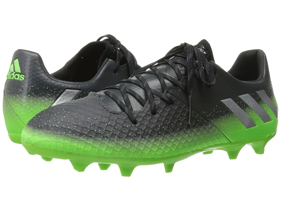 adidas - Messi 16.2 FG (Dark Grey/Silver Metallic/Solar Green) Men's Cleated Shoes