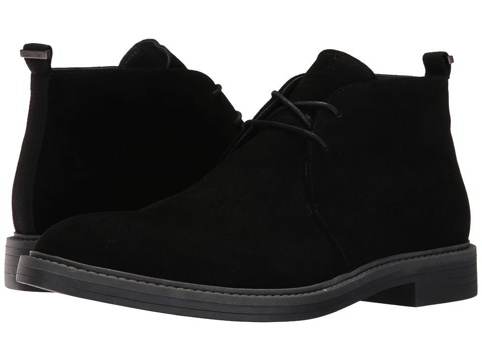 Calvin Klein - Jae (Black Suede) Men's Boots