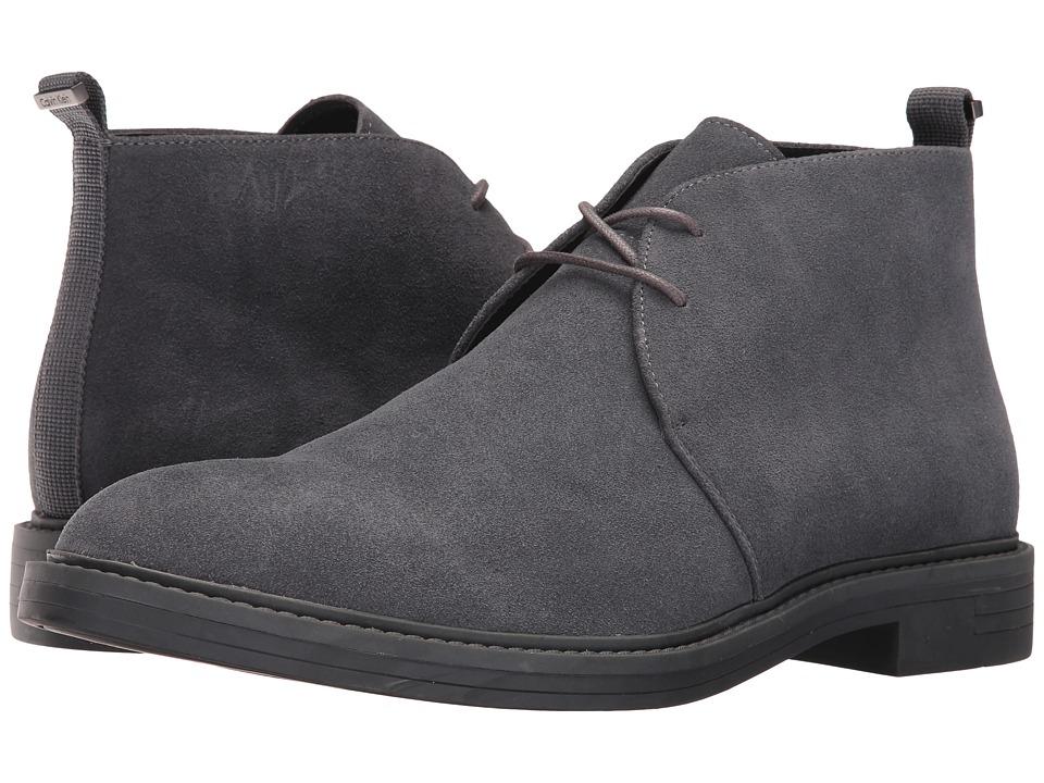Calvin Klein - Jae (Grey Suede) Men's Boots