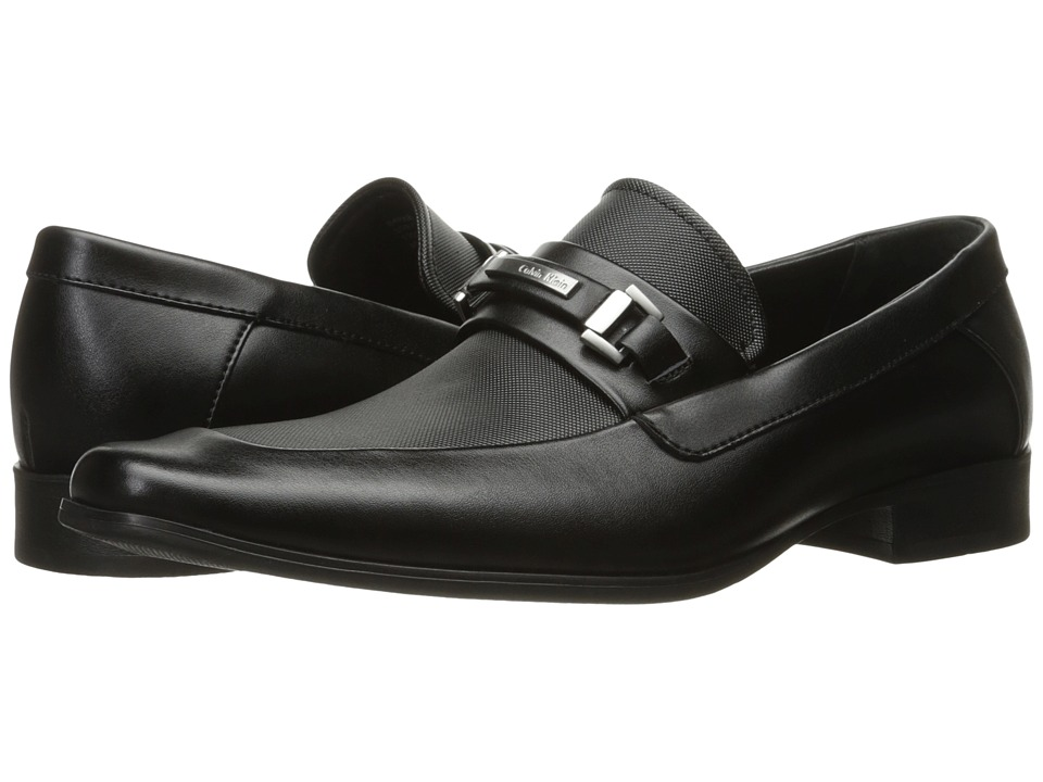 Calvin Klein Barker (Black Emboss Soft Leather) Men