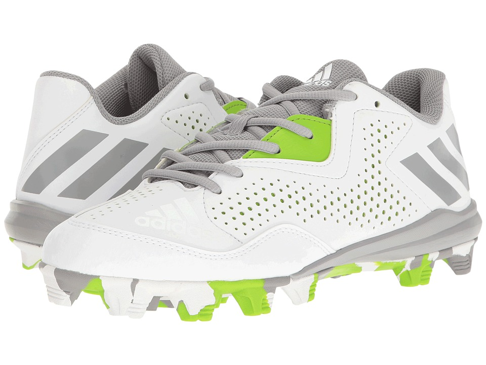adidas - Wheelhouse 4 (White/Light Onix/Semi Solar Green) Women's Cleated Shoes