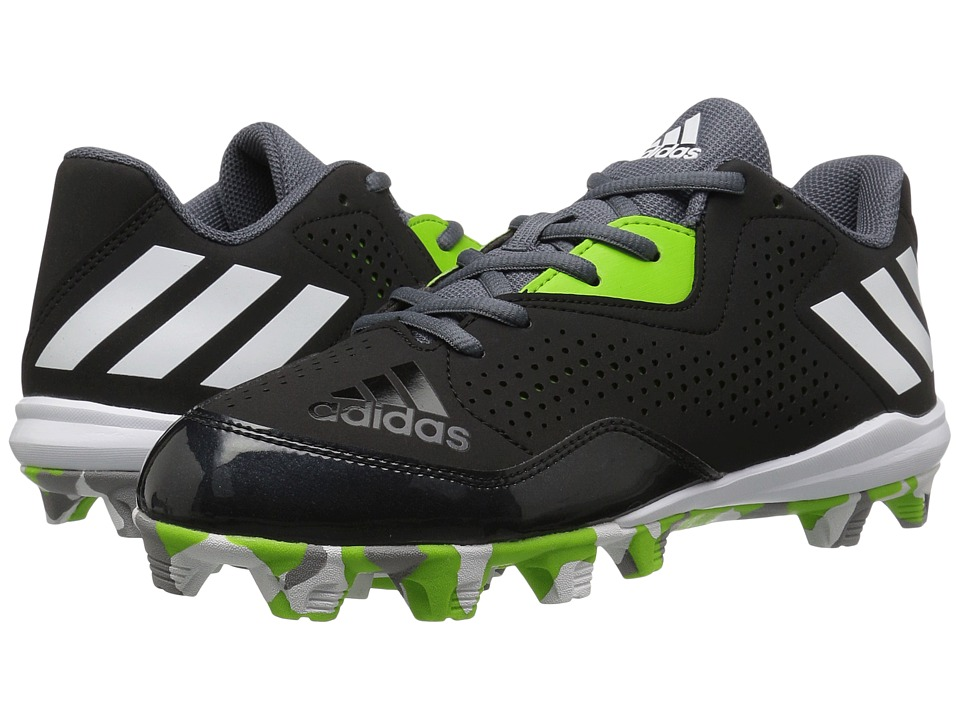 adidas - Wheelhouse 4 (Black/White/Semi Solar Green) Women's Cleated Shoes