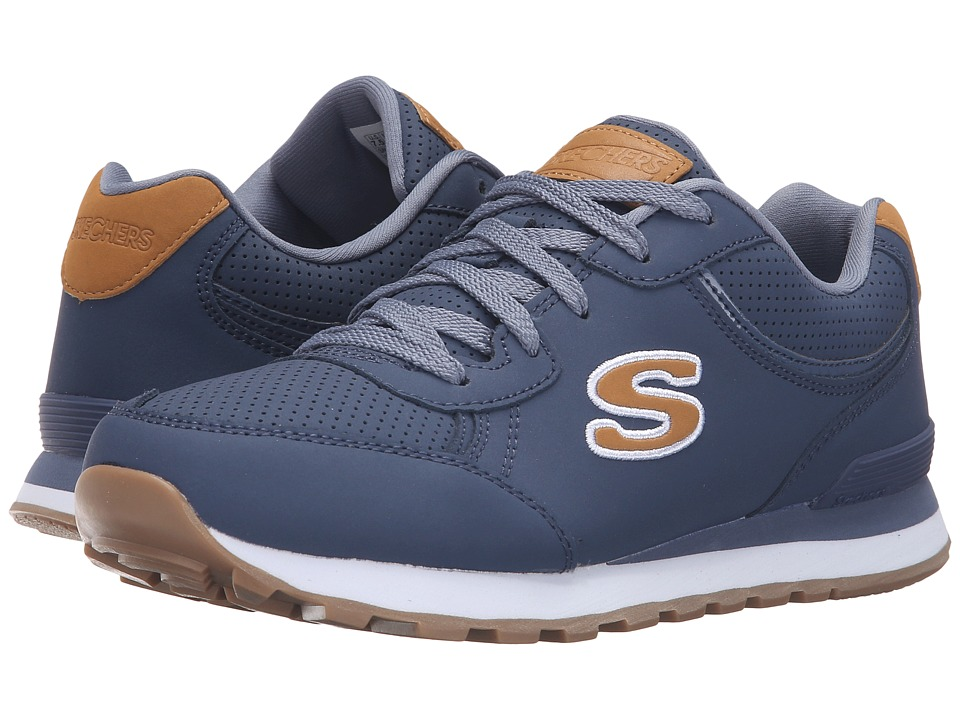SKECHERS - OG 82 - Smooth Moovez (Blue) Women's Lace up casual Shoes