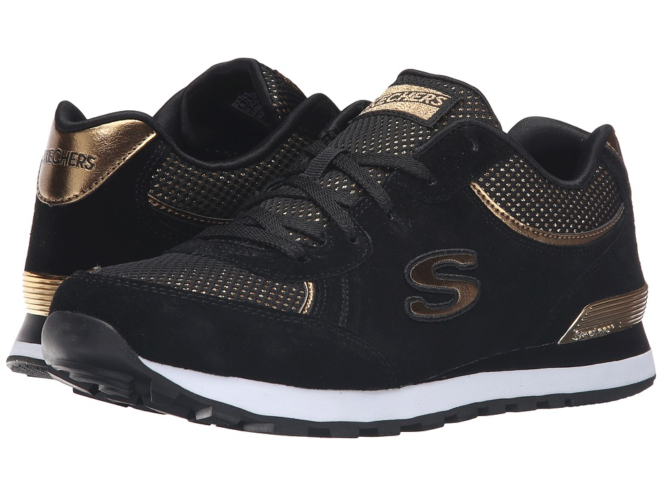 SKECHERS - OG 82 - Dash Dazzle (Black Gold) Women's Lace up casual Shoes