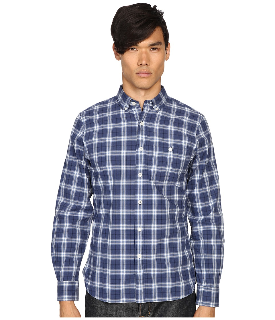 Todd Snyder - Plaid Shirt (Blue) Men's Clothing