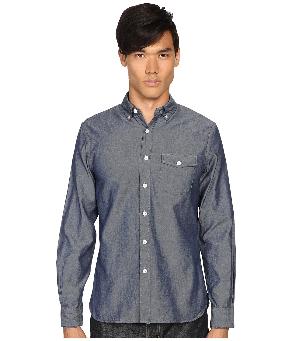 Todd Snyder - Italian Oxford Patch Flap Shirt (Blue) Men's Clothing