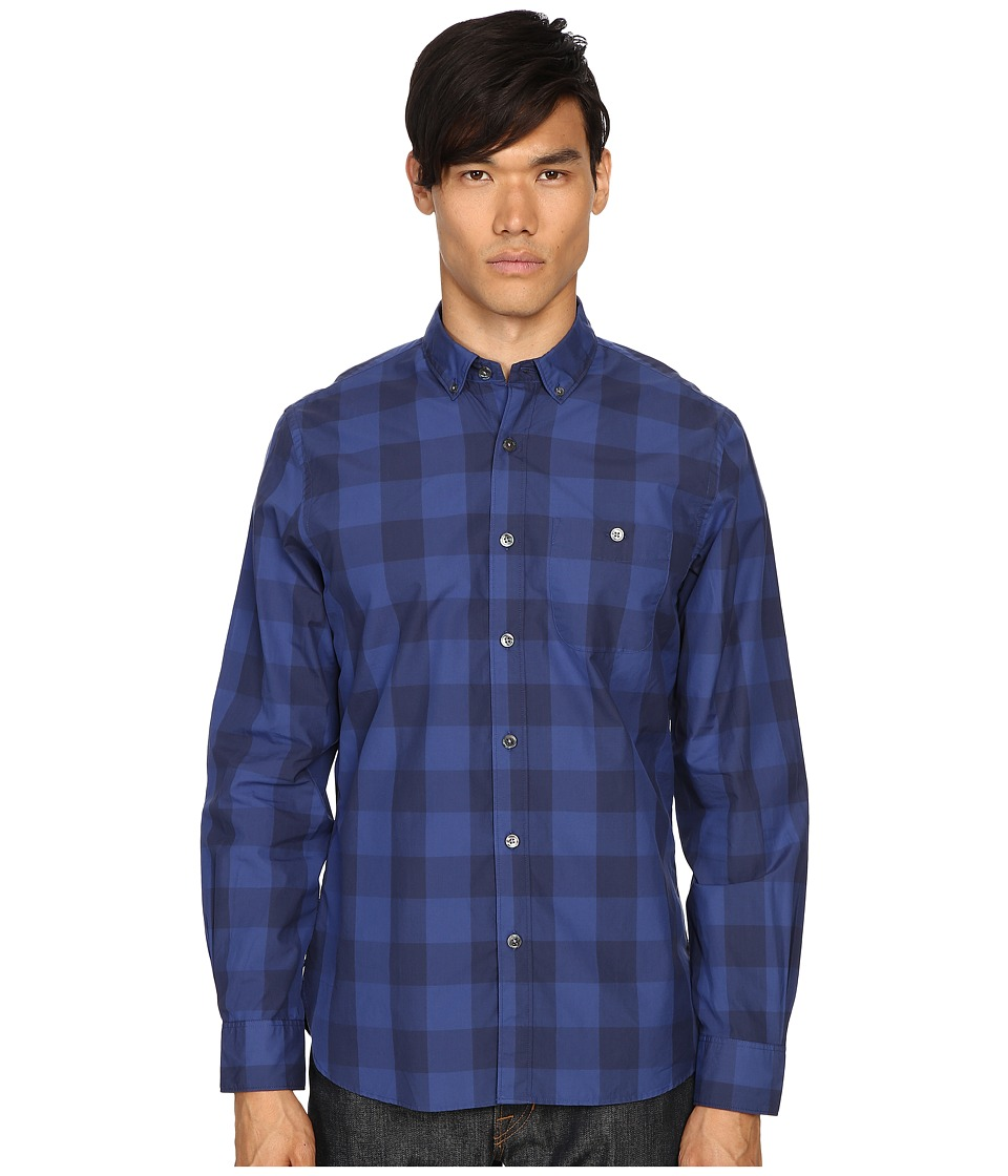 Todd Snyder - Big Check Shirt (Blue) Men's Clothing