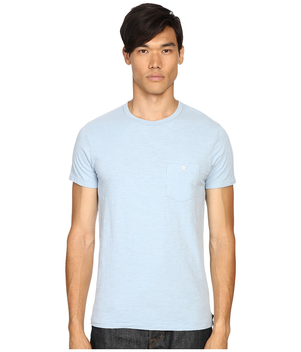 Todd Snyder - Weathered Button Crew Tee (Pale Surf) Men's T Shirt