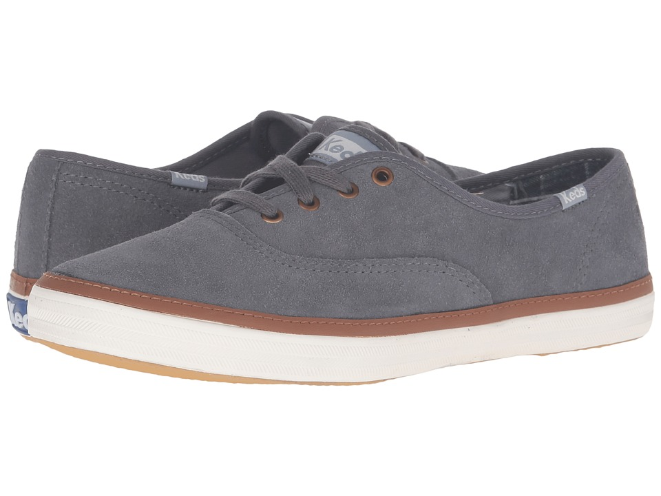 Keds - Champion Suede (Shade Gray) Women's Lace up casual Shoes