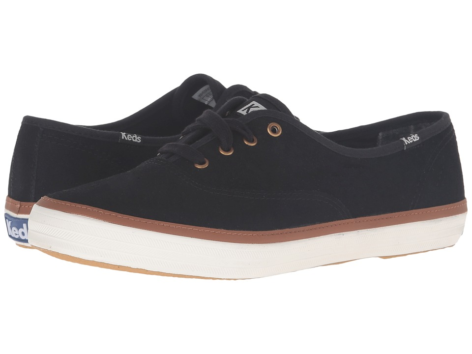 Keds - Champion Suede (Black 1) Women's Lace up casual Shoes