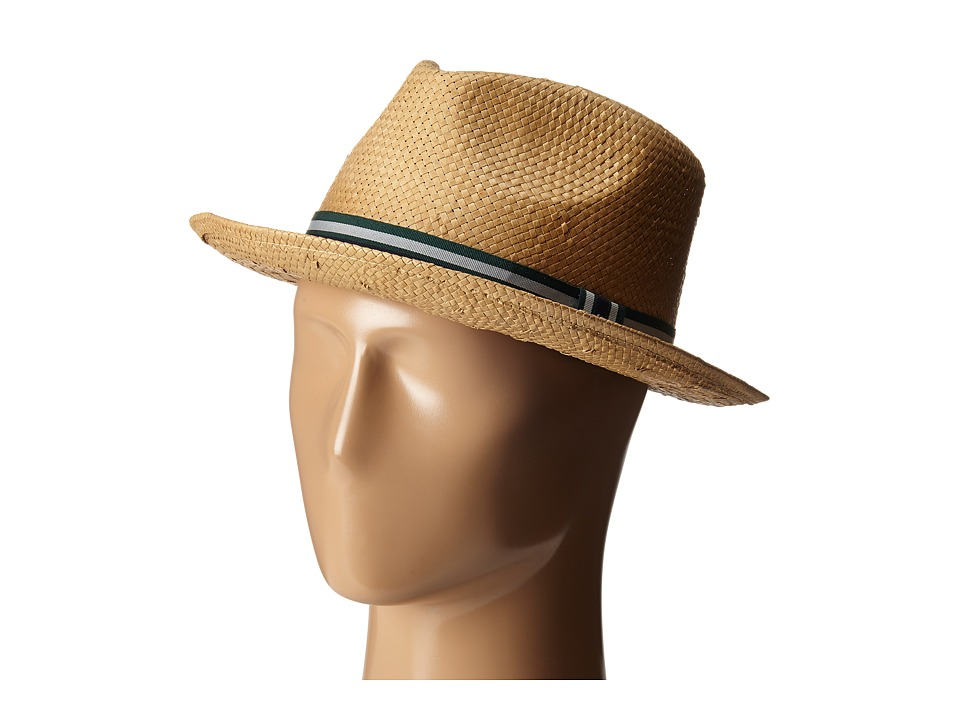 Original Penguin - Solid-Color Straw Fedora (Natural) Fedora Hats
