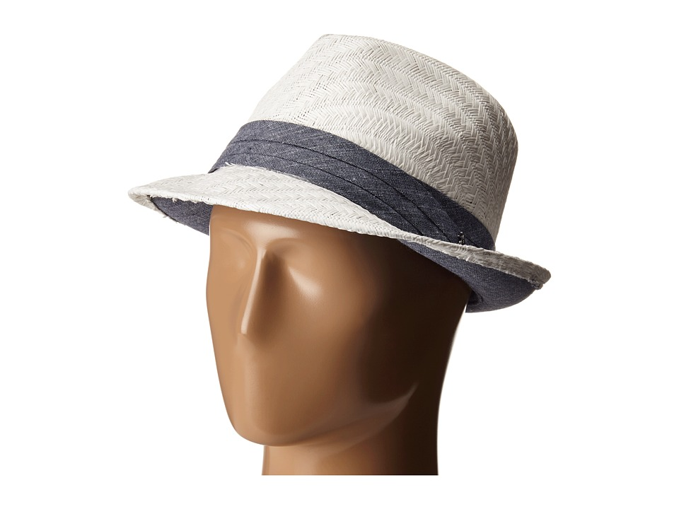 Original Penguin - Straw Fedora (White) Fedora Hats