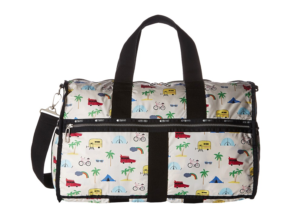 LeSportsac Luggage - CR Large Weekender (Roadtrip Vaca Cream) Weekender/Overnight Luggage