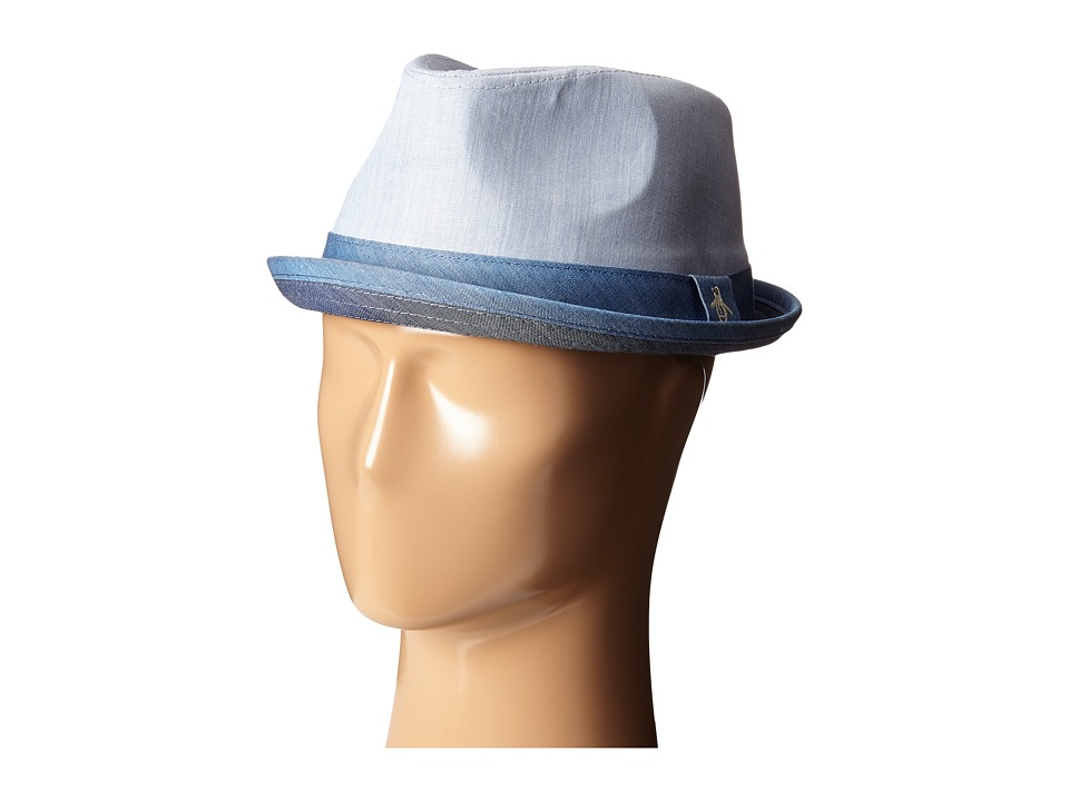 Original Penguin - Color Blocked Chambray Hat (Indigo Denim) Caps