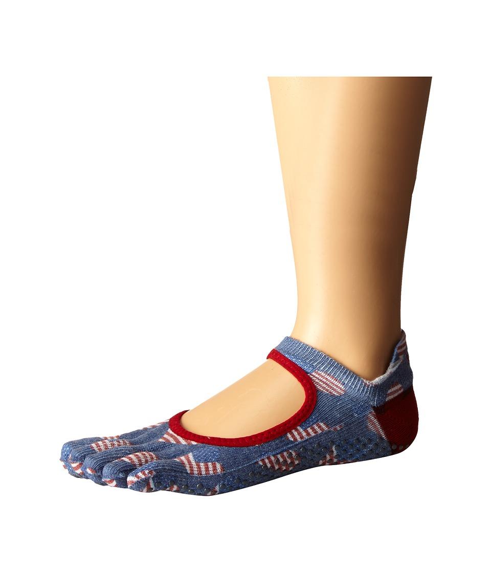 toesox - Bellarina Full Toe w/ Grip (Heartland) Women's Crew Cut Socks Shoes
