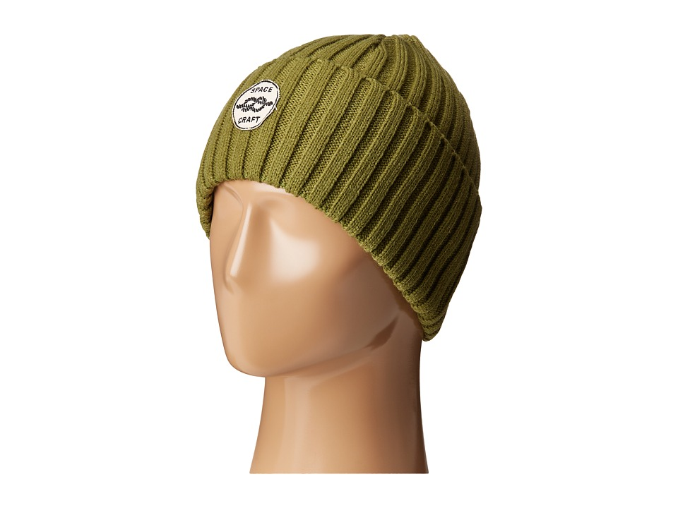 Spacecraft - Square Knot (Green) Beanies